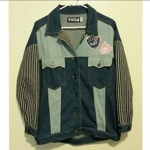 Vintage RAH! Patch Jean Jacket Size Medium